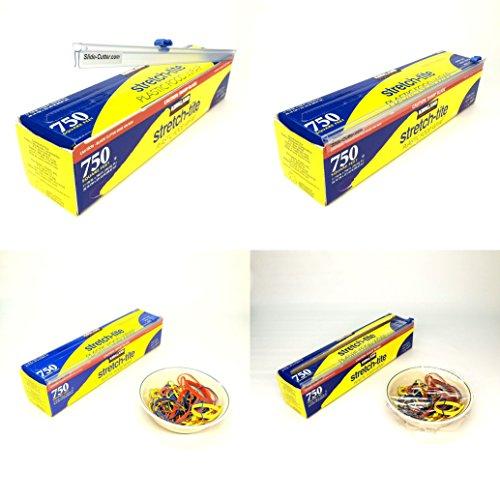 Four 4 Plastic Cling Film Food Wrap Slide Cutters 2 12