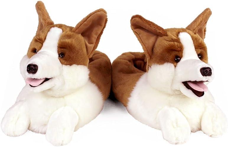AnimalSlippers.com Pantoufles de Corgi Chien pour Hommes et Femmes Taille Unique