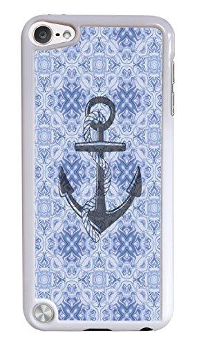 ポピュラー アンカー ホワイト ハードシェル 携帯電話ケース iPod Touch 5G用   B00TVDR8ZM