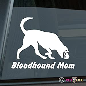 Bloodhound Mom Sticker Vinyl Auto Window Blood Hound 7