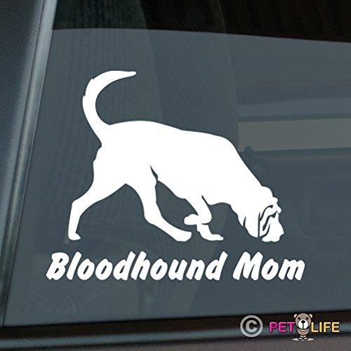 Bloodhound Mom Sticker Vinyl Auto Window blood hound ()