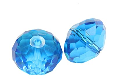 e1de6a21e904a 24 6mm Adabele Austrian Rondelle Crystal Beads Capri Blue Rondelle Spacer  Compatible with 5040 Swarovski Crystals Preciosa SS1R-625