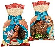 Regina Sacola Plast. Fp R289 Moana Pacote De 8 unidades