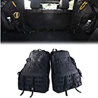 Jeep Storage Bag,Multi-Pockets 2 Side Roll Cage Cargo Organizer for Jeep Wrangler JK 4-door 2007~2017,Jeep Tool Kits Bottle Drink Phone Tissue Gadget Holder for Jeep 4 Door Only