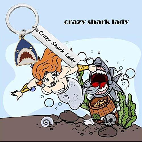 TIIMG Shark Lover Gift Crazy Shark Lady Shark Girl Jewelry Shark Pendant Gift for Girl Women Shark Week Gift