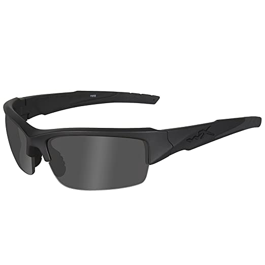 4dbefd9f5969 Amazon.com: Wiley X Valor Sunglasses (Smoke Grey/Clear/Light Rust Lenses,  Matte Black Frame): Sports & Outdoors