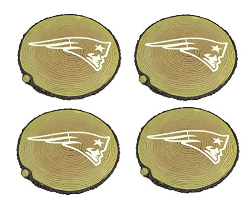 Zeckos Resin Stepping Stones New England Patriots Set of 4 Glow in The Dark Tree Stump Stepping Stones 12 X 0.75 X 12 Inches Tan - Faux Stepping Stones