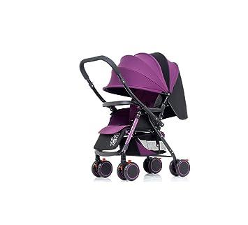 HYJ Cochecito de bebé Plegable fácil Seguridad Multifunción ...