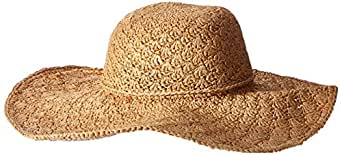 San Diego Hat Company Women's Large BrimHat O/S, Natural
