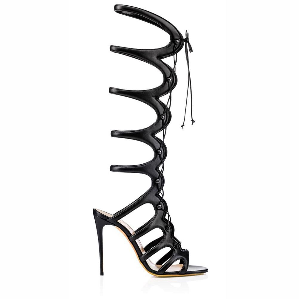 L@YC Frauen Schuhe Kunstleder Herbst Coole Stiefel Herbst Kunstleder Reitstiefel Mode Karree Kniehohe Stiefel Casual Party & schwarz e4e09b