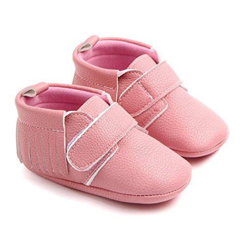 Clode® Neugeborenen Baby Jungen Mädchen Quaste Baseball Weiche Einzigen Casual Wohnungen Schuhe Rosa