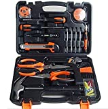Hi-tech 45 Piece Home Repair Tool Kit, General Household Tool Kit for Home Maintenance with Plastic Toolbox Storage Case