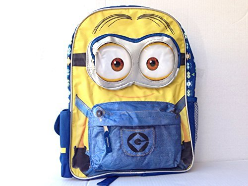 2015 New Despicable Me Minions 3D Eyes Limitied 16 Inches Backpack