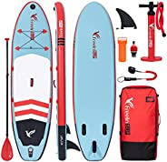 """Freein SUP All Round Inflatable Stand Up Paddle Board 10'2''Long 31"""" Wide 6"""" Thick"""