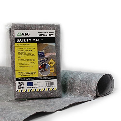 - Waterproof Anti-Slip DROP CLOTH - Professional Surface Protection SAFETY MAT - 40 x 40 by NAC INDUSTRIAL by NAC INDUSTRIAL
