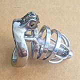Stealth Lock Male Stainless Steel Chastity Product Cage With Catheter Lock Ring Chastity Belt,50mm