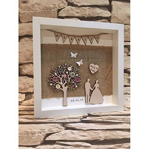 Personalised Just Married Box Frame Wedding Gift Special