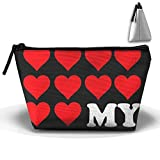 HGUII-O I Love My Girlfriend Makeup Bag Cosmetic Pouch Travel Bag With Zipper Closure For Women Girls