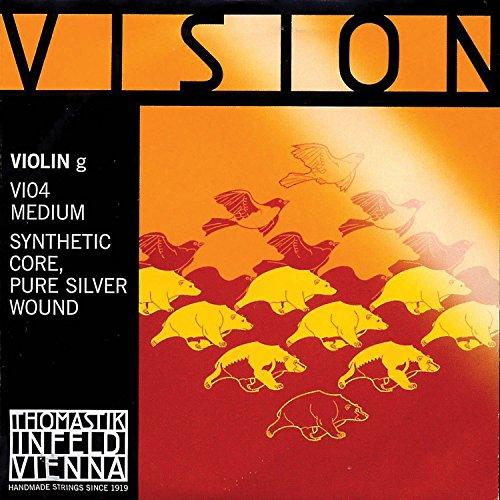 Thomastik Vision 4/4 Violin G String - Medium - Silver/Synthetic by Thomastik