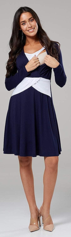 HAPPY MAMA Mujer Maternidad Impreso Cintura Imperio Cruzar Vestido Floral 682p