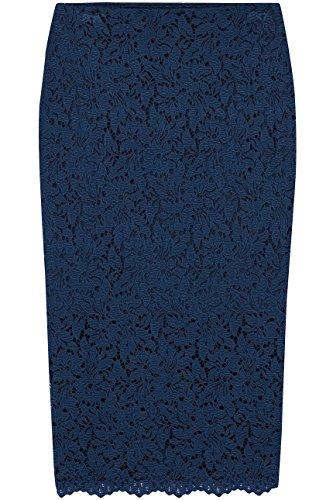 Damen Blau Bleistift-schnitt Mit Find Midirock french Navy Rock