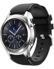 TERSELY Sport Band Strap for Samsung Gear S3 / Galaxy Watch 46mm, 22mm Soft Silicone Metal Buckle Bands Fitness Sports for Samsung S3 Frontier/Classic/Galaxy Watch 46mm Smartwatch