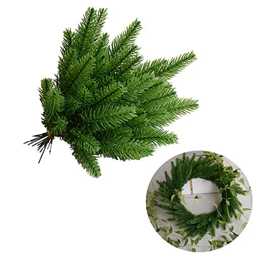 - Swovo Artificial Pine Tree Branch Artificial Plants Artificial Greenery Christmas Holiday Home Decor Table Garden Decoration 10 Pack