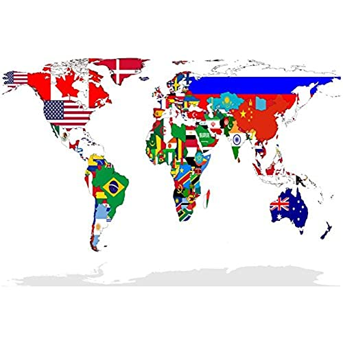 World map flag amazon map of world with flags in relevant countries isolated on white background poster by speedfighter 19 x 13in gumiabroncs Images