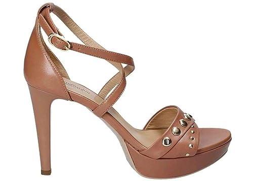 NG P806051DE Nero e Nudo Calzature Sandali Eleganti Tacchi Alti  Amazon.it   Scarpe e borse 1f7a0080c4a