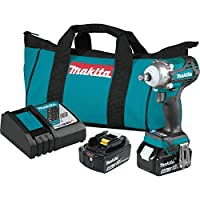 """Makita XWT14T 18V LXT Lithium-Ion Brushless Cordless 4-Speed 1/2"""" Sq. Drive Impact Wrench Kit w/Friction Ring Anvil (5.0Ah)"""