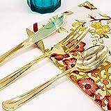 300-Piece Gold Plastic Silverware Set - Bocca