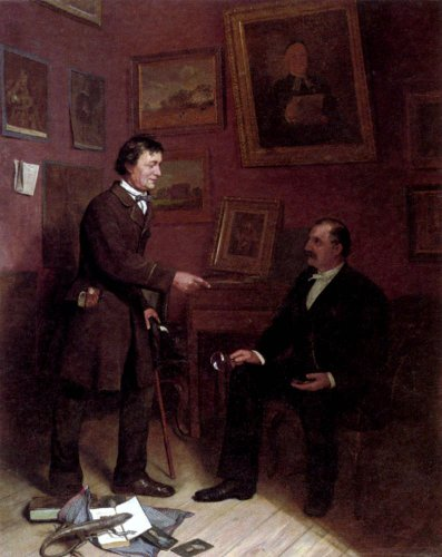 Carl Christian Andersen The Art Collector - 20'' x 25'' 100% Hand Painted Oil Painting Reproduction by Art Oyster