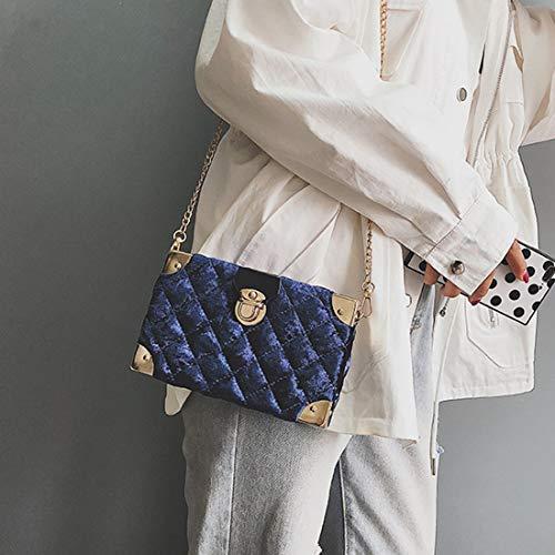Para Hombro De Mujer Bolsos Yy4 Pattern Bolso Lingge Green Paquete Gold Blue Bandolera Kervinfendriyun Felpa color Velvet gtx8XTqww