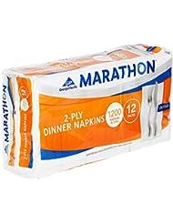 Marathon Embossed Dinner Napkins 1 8 Fold 1 200 Napkins
