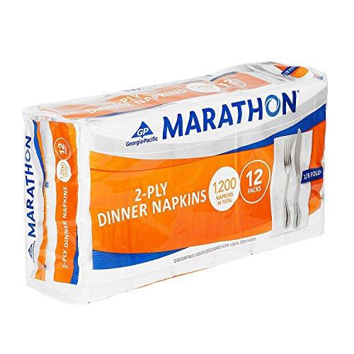 Marathon 1/8 Fold Embossed Dinner Napkins, 1200 - Folded Dinner Napkins