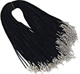 Cords 2.0mm Black Satin Silk Necklace Cord 18'' Chain Lead&Nickel Free 50pcs