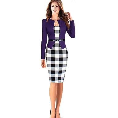 Tasso Elegantes Kleid Business Kleider Business Look Damen Langärmel