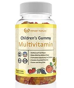 Whole Nature Children's Gummy Multivitamin - Includes All Daily Essential Vitamins and Minerals for Overall Wellness, All Natural Flavor, No Artificial Sugar, Non Gmo and Gluten Free.