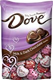 DOVE PROMISES Valentine Milk and Dark Chocolate Candy Hearts Variety Mix 19.52-Ounce Bag