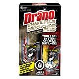 Drano Snake Plus Drain Cleaning Kit with Tool & Gel System - 473ml Bottle & 58cm Flexible Tool