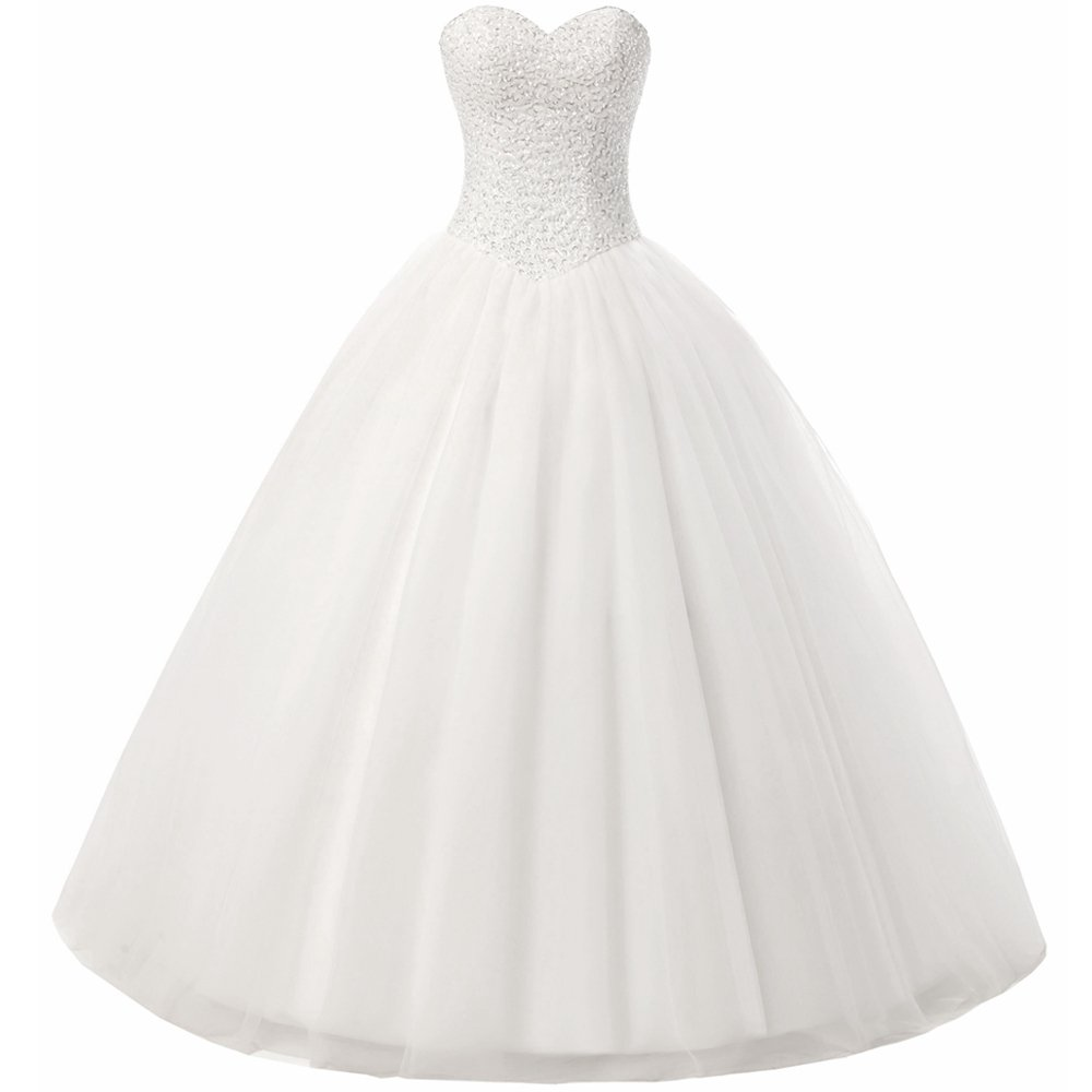 Beautyprom Women's Ball Gown Bridal Wedding Dresses Ivory US14