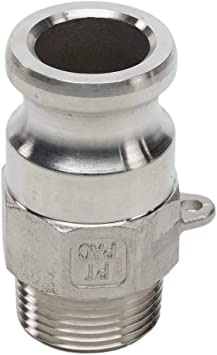 """1//2/""""-3/"""" Hose Tail Barb 304 Stainless Steel Type B Plug Camlock Fitting Groove"""