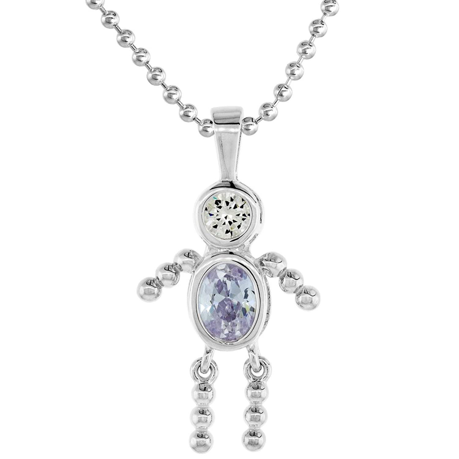 birthstone john greed old silver jewellery small cz necklace zoom women june pendant sweet version