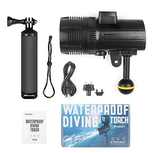 D&F Waterproof Torch LED Light 1000LM Diving 60m Video Flashlight Lamp for GoPro Hero 7/6/5/4/HERO(2018), AKASO,Campark,Crosstour,APEMAN and Other Action Sports Camera by D&F (Image #6)