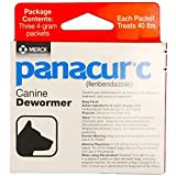 Panacur C Fenbendazole Canine Dewormer, Three 4-Gram Packets