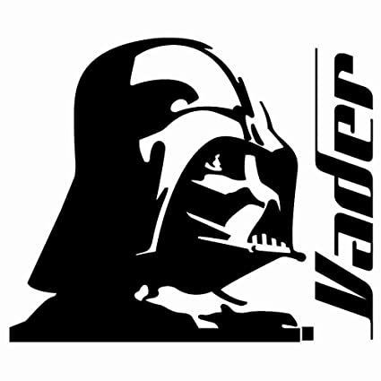 Darth vader 6 black car truck vinyl decal art wall sticker usa disney star wars