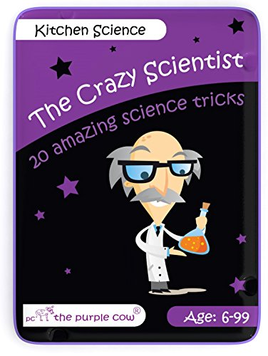 The Purple Cow The Crazy Scientist Tricks Card Set, Kitchen Science, Educational Games for Young Kids 6 Years and Older, Instructions Inside - Amazing STEM Learning -