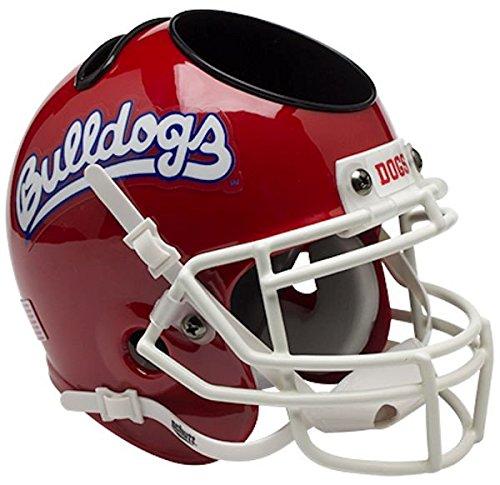 Fresno State Bulldogs Mini Football Helmet Desk Caddy - Scarlet - NCAA Licensed - Fresno State Bulldogs Collectibles