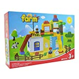 YAOSEN 89pcs Children Happy Farm Building Toy Colorful Plastic Puzzle Toy Set
