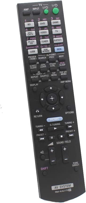 Replacement Remote Control Compatible for Sony STR-DN840 RMAAU170 149205111 STR-DH540 STR-DH740 STR-DH550 Audio/Video AV Receiver Home Theater System